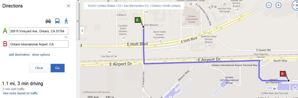 美国飞机场地图